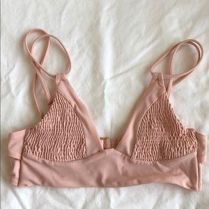 Tori Parver blush pink swim top